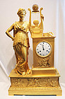 World class, massive French Empire bronze clock, 81 cm!