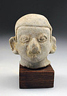 Large pre-columbian Tumaco - La Tolita pottery head!