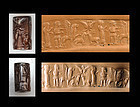 Outstanding Syrian cylinder seal in brown Hematite!