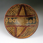 Large Pre-columbian Narino pottery pedestal bowl #2
