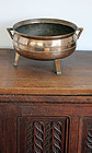 Huge European Gothic bell metal cauldron, c. 1680!