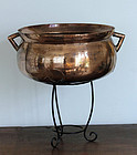 Huge European Gothic bell metal cauldron, ca. 1650!