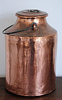 Scarce large Swedish 1800s lidded copper container!