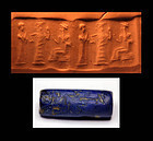 Babylonian lapis Lazuli cylinder seal, URIII,