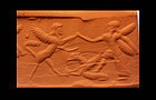 Rare Neo-Assyrian cylinder seal w original copper wire!