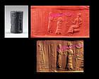 Rare superb Babylonian cylinder seal w cuneiform!