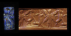 Incredible Lapis Lazuli Neo-Assyrian cylinder seal