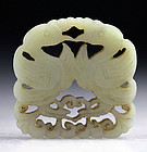 Choice celadon Chinese jade carving birds!