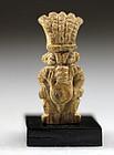 Egyptian Steatite Amulet of Bes, c. 350 B.C.