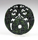 Chinese Spinach green jade Dragon ornament - gem!