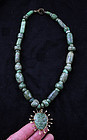 Museum Quality Maya costum gold and jade necklace!