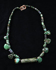 Superb pre-columbian Maya costum gold and jade bead necklace!