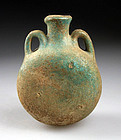 Rare Islamic UMAYYAD pottery pilgrim bottle, 8th. century AD