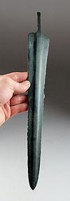 Exceptional tanged Luristan bronze short sword!