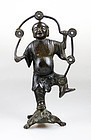 Rare Chinese Ming Dynasty bronze figure of LIU HAI