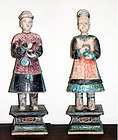 Pair of Colossal Ming Dynasty Pottery Tomb Figures!