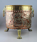 High quality Dutch brass cobber bucket with coat of arms!