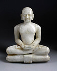Indian Jain Marble depiction of Lord Mahavira, 19th. century