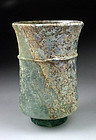 Wonderful Roman glass beaker w pearl iridescence!