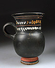 Greek pottery Kothon of Gnathian ware, 4th. century BC