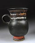 Greek pottery Kothon of Gnathian ware, 4th. century BC