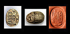 Superb Egypt Scarab signed in the name of Thutmose III!
