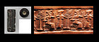 Babylonian Cylinder seal, late 3rd. millenium BC
