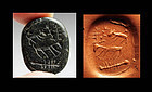 Rare massive Greek Scaraboid stamp seal, 8th.-7th. Cent BC