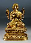 Exceptional Quality Sino-Tibetan (Chinese) gilt bronze buddha!