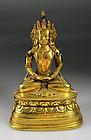 Exceptional Quality Qing Dynasty Sino-Tibetan bronze buddha!