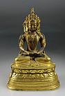 Superb Quality Qing Dynasty Sino-Tibetan bronze buddha!