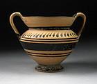 Choice Daunian greek Skyphos Amphora, ca. 3rd. century BC