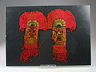 Pair of exceptional Pre Columbian Moche Weavings - textile!