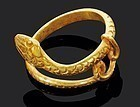 High Quality Hellenistic greek gold snake ring!