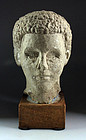 Rare lifesize Roman Egypt limestone head of a patrician!