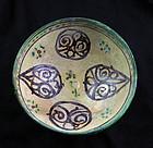 Fine Islamic pottery bowl, ca. 11th.-12th. century AD