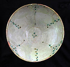 Wonderful Islamic pottery bowl floral decoration, 10th.-11th. cent