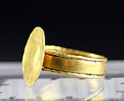 Rare large ancient gold ring, Late Roman period, 5th.-7th. cent.