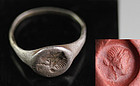 Roman silver seal ring w Empress / godess, ca. 3rd. cent. AD!
