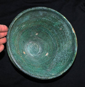 Large choice Islamic pottery bowl Bamiyan,  Samanid Empire