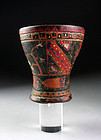 Antique Peru Inka wooden kero cup or beaker, South American