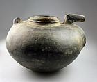 Important large Amlash grey ware zoomophic pottery vessel!