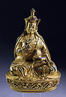 Superb Chinese / Tibetan gilt bronze Buddhist figure, Qing