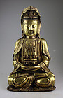 Massive Chinese gilt bronze Guanyin, Ming Dynasty!