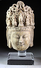 Ancient Chinese marble head of Bodhisattva Guanyin!