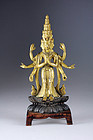 Sino Tibetan Figure of Eleven-headed Avalokiteshvara, 18th century!