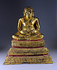 Fine Thailand 19th. cent. gilt bronze buddha or monk - a true gem!