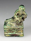 Roman bronze figure of naked boy feeding a goose or swan!