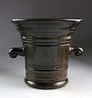 Enormous 17th. century Italian bronze mortar - gem!