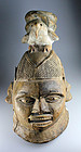 Authentic antique Nigerian Yoruba wooden mask, 18th.-19th. c.